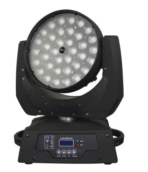 36*18W Rgbwauv 6in1 Multi Color DMX LED Moving Head Wash Light