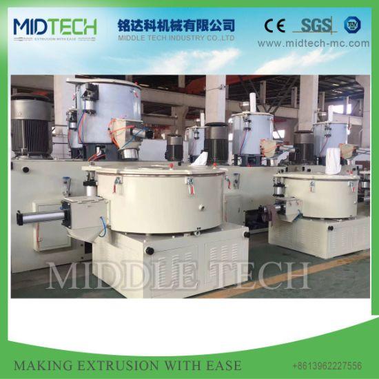 Plastic Industry UPVC/PVC/Spc/WPC Powder/Dry Blender/ Granules/Master Batch/High Filler High Shear Static Double Speed Vertical/ Horizontal Cooling Mixer
