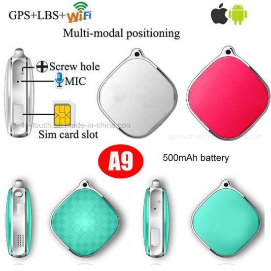 Fashionable 2G GSM Mini Pendant Kids Smart GPS Tracking with SOS Alarm Alert Geo-fence Setup A9