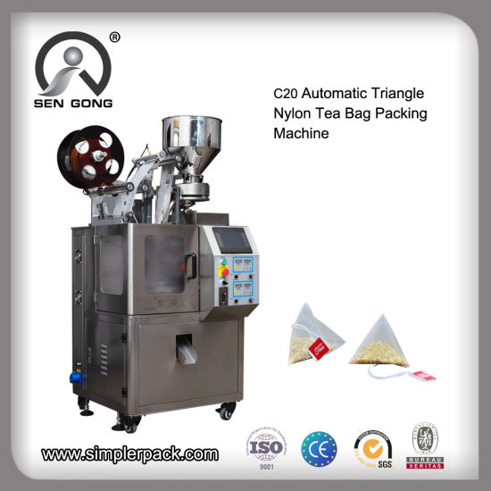 Automatic Triangle/ Pyramid Pouch Tea Bag Filing Packing Sealing Machine
