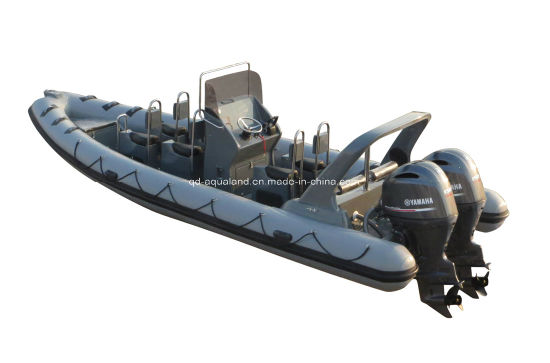 China Aqualand 25feet 7.5m Rigid Inflatable Motor Boat/Rib Patrol Rescue Boat/Sports Boat (RIB750B) pictures & photos