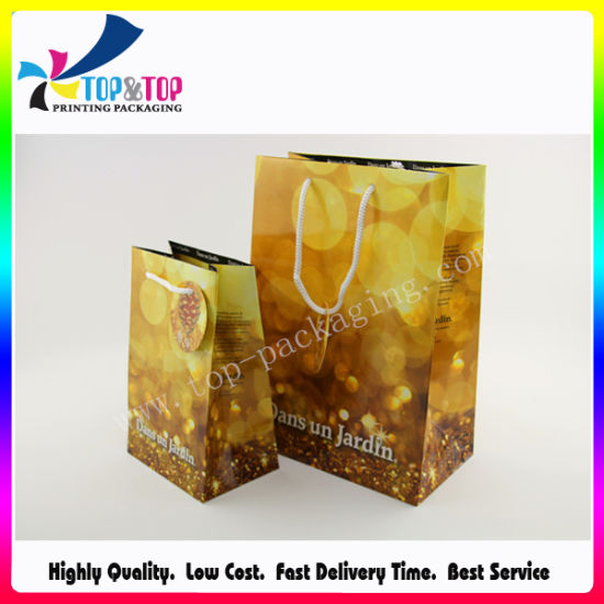 Shiny Paper Gift Bag for Cosmetic pictures & photos