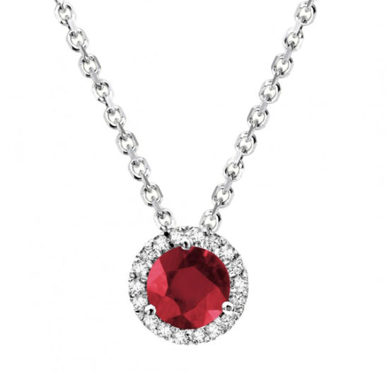 Ruby Stone 925 Silver Jewelry Pendants Necklace Wholesales