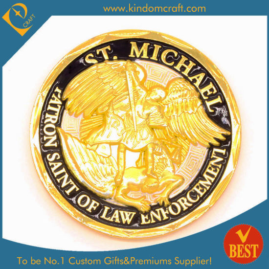 Custom Fashion 3D Logo Angel Golden Military / Army / Police Souvenir Challenge Coin as Promotion Gift