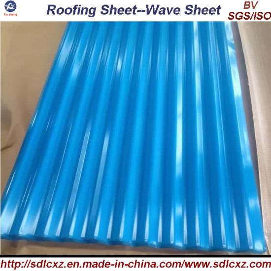 Roofing Corrugated Galvanized Steel Sheet and Color Coated Steel Sheet pictures & photos