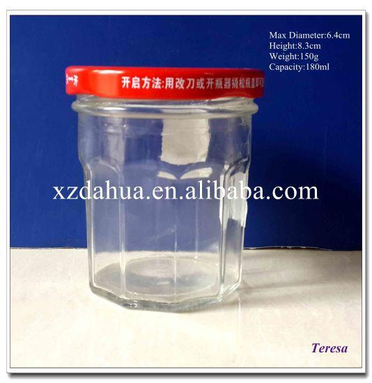 180ml Glass Jar with Metal Twist off Cap