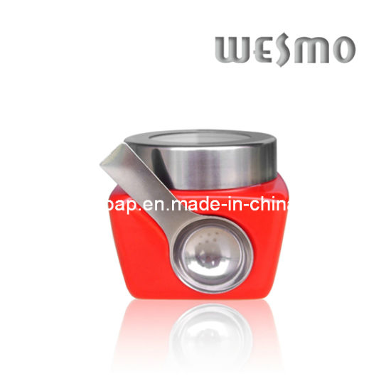 Ceramic Storage Container With Spoon (WKC0333G-S) pictures & photos