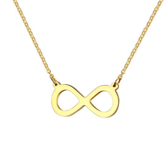"""Cheap Metal Fashion Jewelry Mother Infinity Charm """"8"""" Shape Pendant Necklace for Women Men"""