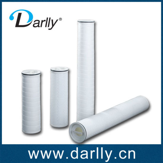 Water Filtration High Flow Rate PP Pleated Filter Cartridge