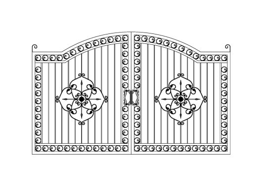 Cheap Wrought Iron Steel Gates pictures & photos