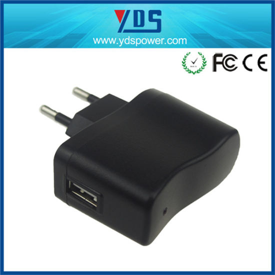 5V 1A EU Wall Plug Adapter with USB pictures & photos