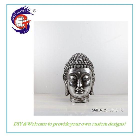 Hot Selling Buddha Head Statue Garden Resin Craft Decoration