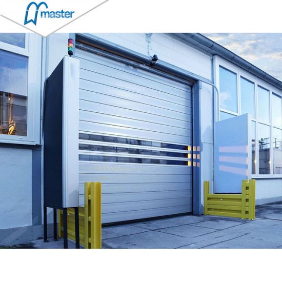 Warehouse Industrial Spiral Automatic Aluminum Rolling High Speed Door