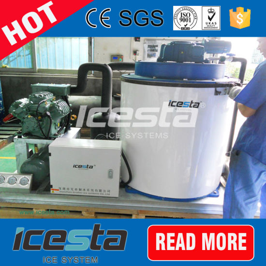 Icesta 5 Tons Containerized Flake Ice Machine with Cold Room