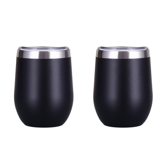 Wevi 304 Stainless Steel Egg Shape Black Wine Cup