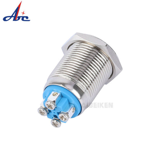 16mm 12V LED Power Push Button Switch Aluminum Metal Latching Waterproof