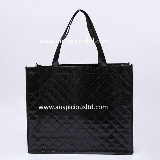 Shiny Lamination Shopping Tote Bag Made of Non Woven