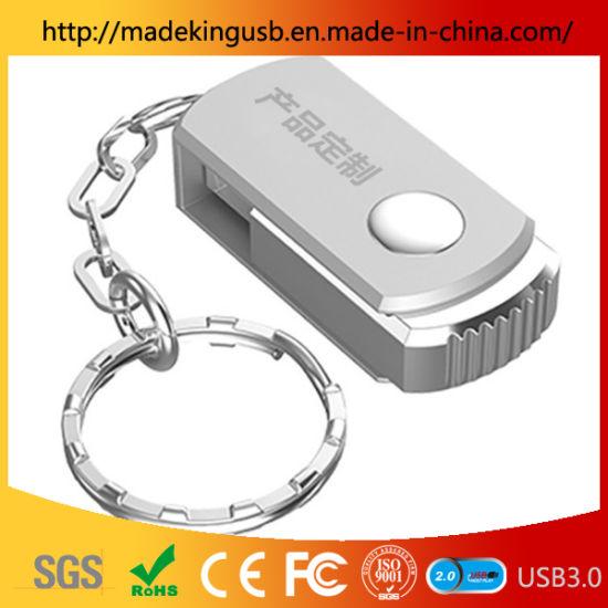 Mini Metal Rotating Gift 64GB U Disk Customization USB Flash Drive