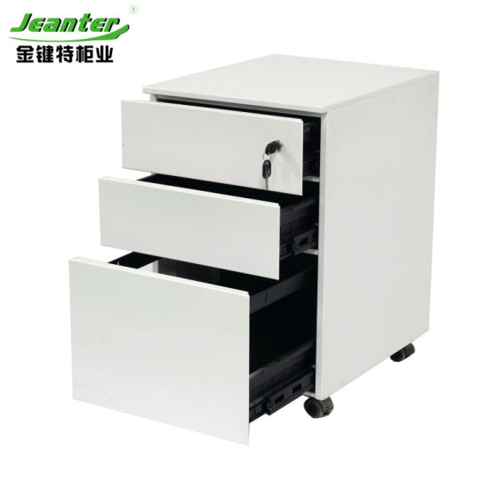 Three Drawers Side Open Mechanical Locks Password Steel Cabinets