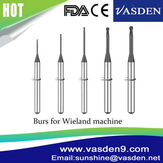 Dental Milling Machine Burs Wieland 5 Axis Machine CAD Cam Milling Burs