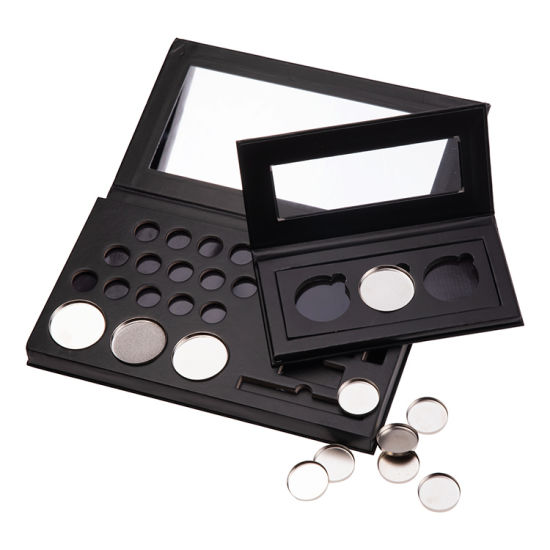 Firstsail Makeup Packaging Black Private Label 26mm Magnetic Pan Empty Eyeshadow Palette