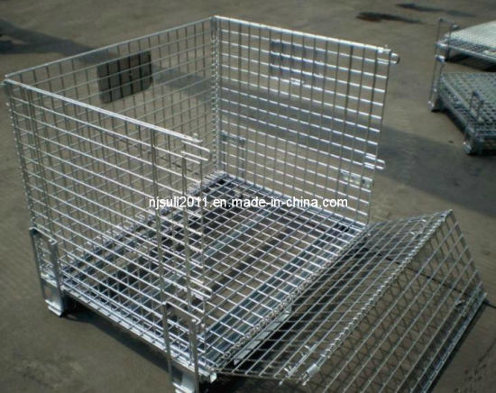 Kinds of Foldable Metal Mesh Warehouse Storage Container