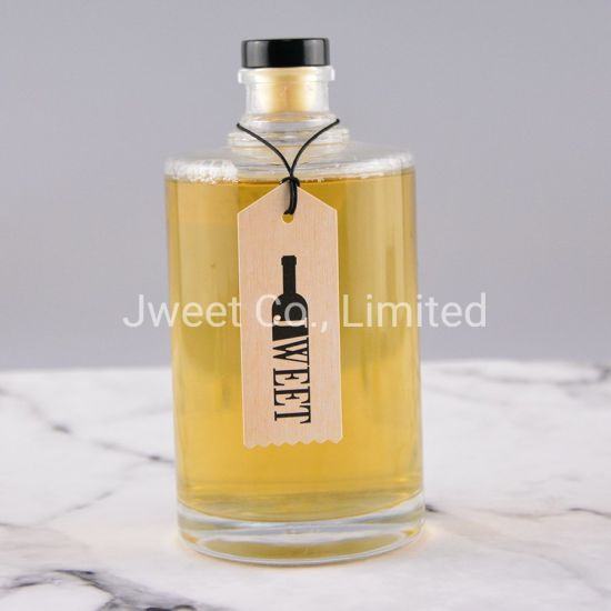 Tequila Glass Bottle with Cork Cap Lid 500ml