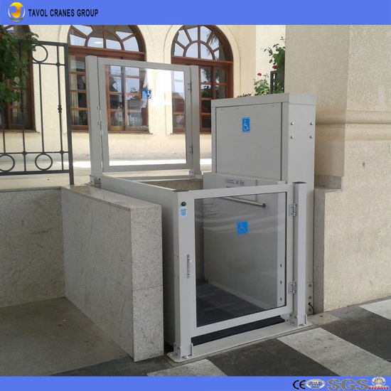 Tavol Ce 300kg Vertical Wheelchair Home Elevators Lift for Disabled pictures & photos