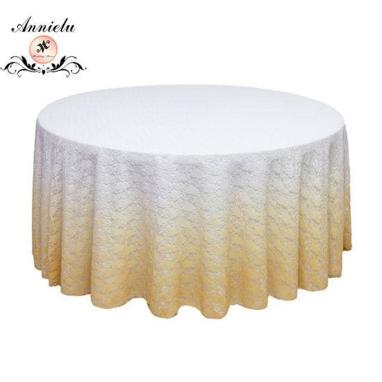 Annielu Ombre Lace Wedding Table Cloth Wholesale Table Covers Tablecloth