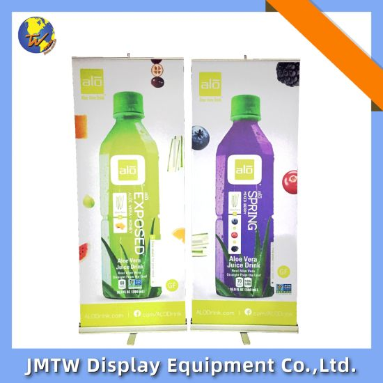 Aluminum Vinyl Banner Roll up Banner Stand with Single Foot
