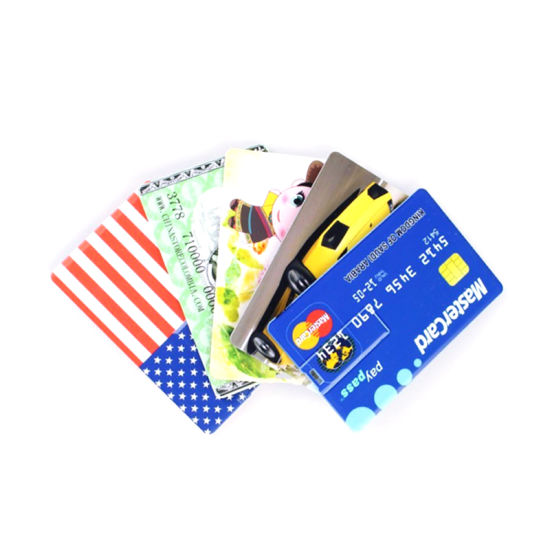 Real Capacity OEM Custom Logo Credit Card USB Chip Card USB Flash 1GB 2GB -128GB Flash Drive