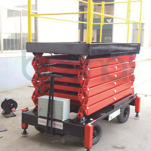 Mobile Aerial Work Platform Hydraulic Scissor Lift (6m) pictures & photos