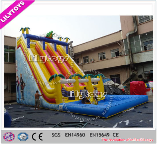 china cheap lead free children inflatable pool slided for sale
