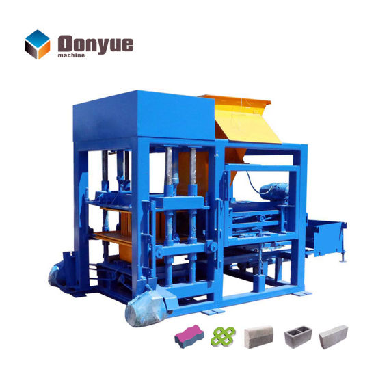 China Small Business Qt4-25 Concrete Hollow Blocks Molds