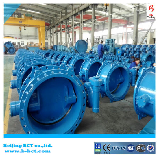 Coating Rubber Butterfly Valve with Gear Worm pictures & photos