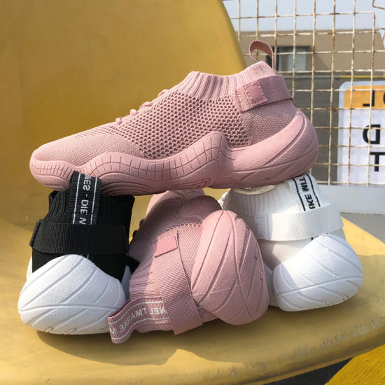 Fashion Stretch Socks Shoes for Women Korean Version Fly Knit Leisure Sports Shoes for Women Cross Border Shoes for Women