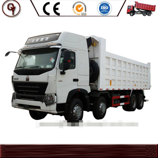 HOWO Used Dump Truck Right Handing Driving Rhd 8X4 371HP 30t-40t Cargo Loading Capacity Cheap Price Used Truck for Sale