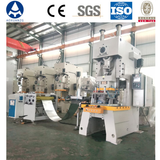 Hydraulic Punching Machine with Aluminum Foil Making Machine Producing Container