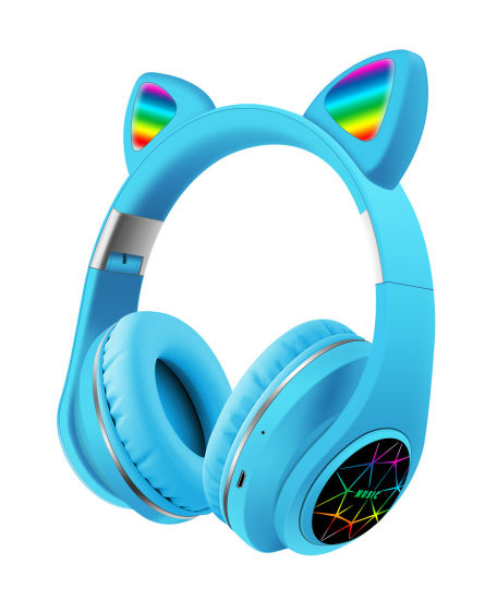 Factory Original New Cat Ear M2 Amazon Hot Selling Cute Cat Bluetooth Headphone V5.0 OEM Gaming LED Wireless Headphones