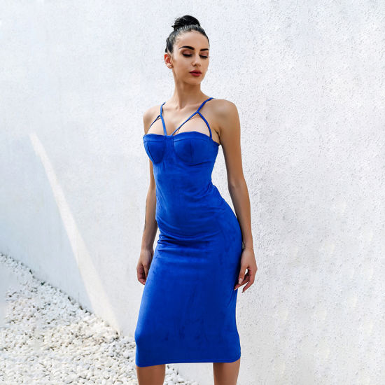 34dc09f09cf5 Woman Slip V-Neck Sleeveless and Sexy Short Tight Backless Dress. Get  Latest Price
