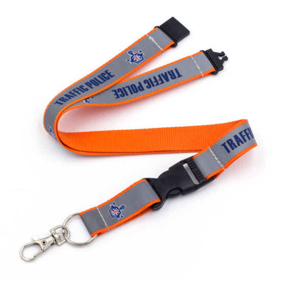 Customized Reel Badge Polyester Printed Lanyard Silicone Team UK Polyester pictures & photos