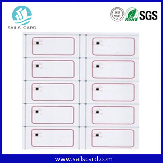 6 * 8 Layout RFID Prelam Inlay Manufacturer in China pictures & photos