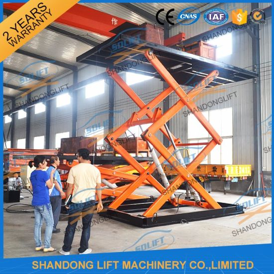 China 7.6m 3t Hydraulic Automatic Scissor Car Lifter for Sale ...