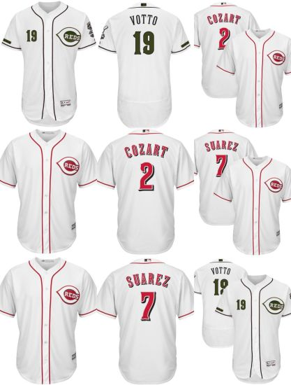 huge selection of f14af e6347 China Cincinnati Reds Eugenio Suarez Joey Votto Cool Base ...