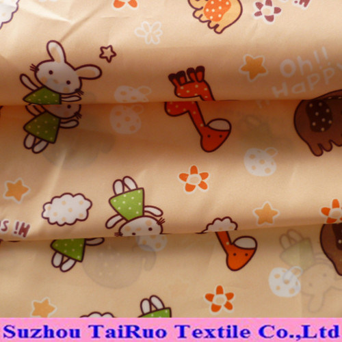 Polyester Printed Water- Proof Pongee with Coating for Garment Fabric