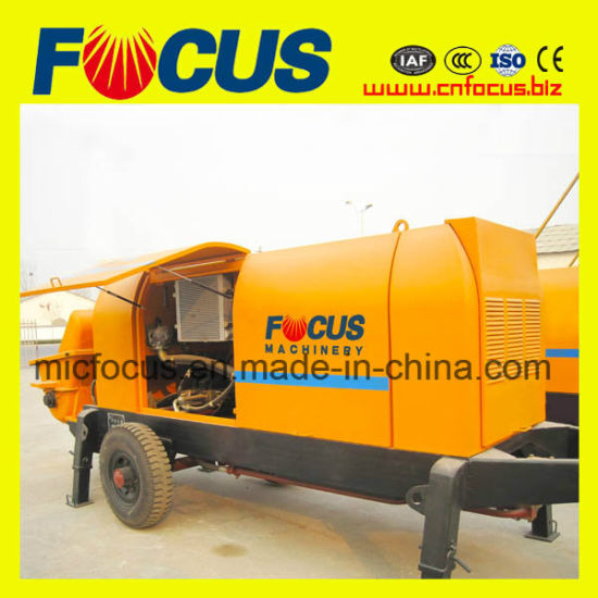 Engineering Construction Machinery 90kw Hydraulic System Trailer Concrete Pump pictures & photos