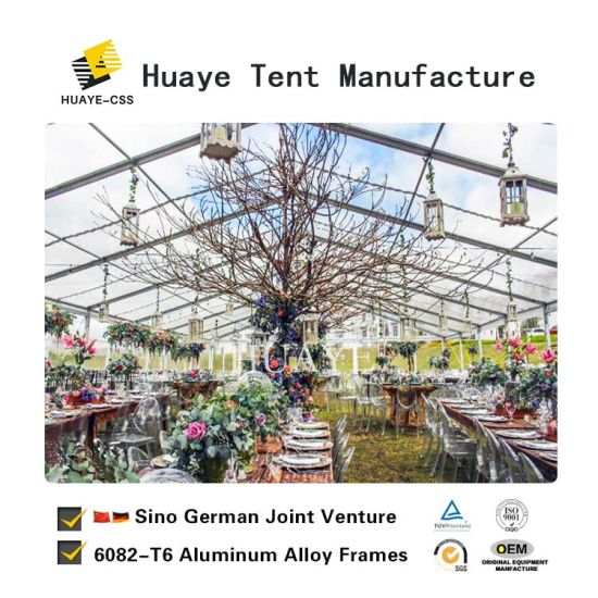 Clear Roof Wedding Tent With Side Pvc Walls For Hy048g