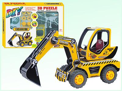 Friction Car Toys DIY 3D Puzzle Intelligent Toys (H4551129)