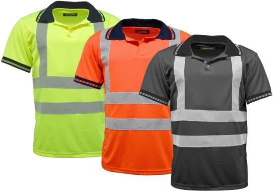 China custom reflective stripe high visibility workwear for Custom hi vis shirts