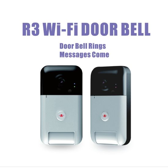 Outdoor Use Waterproof Compact-Size Smart Wi-Fi Door Bell with L Low Power  Comsumption, Push Notification Full Deplex 2 Way Audio Free APP